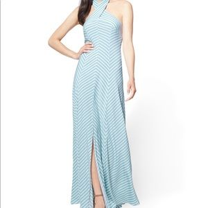New York & Company Halter Maxi Dress